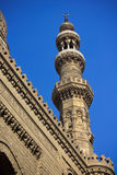 Minaret of The Rifai Mosque Stock Images
