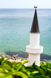 Minaret and sea Royalty Free Stock Photo