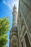 Minaret of Sehzade Mosque in Istanbul. Turkey Royalty Free Stock Photo