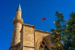 Minaret of Selimiye mosque. Nicosia, Cyprus Royalty Free Stock Photo