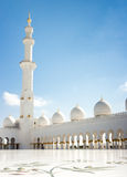 Minaret of Sheikh Zayed Grand Mosque Stock Images