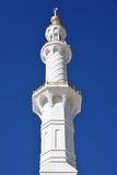Minaret of Sheikh Zayed Mosque in Abu Dhabi, Royalty Free Stock Photography