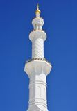 Minaret of Sheikh Zayed Mosque in Abu Dhabi Stock Photo