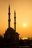 Minaret silhouette Royalty Free Stock Photography