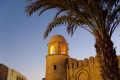 Minaret of Sousse mosque Stock Photography