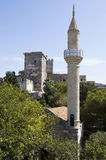 Minaret in St Peter's castle in Bodrum Stock Photos