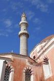 Minaret Suleiman meczet, Rhodes Obraz Royalty Free