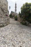 Minaret of the Suleymaniye Mosque or the Mosque of Suleiman Stock Image