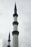 Minaret of Sultan Salahuddin Abdul Aziz Shah Mosque a.k.a Shah Alam Mosque Royalty Free Stock Photo