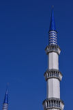 Minaret of the Sultan Salahuddin Abdul Aziz Shah Mosque is the state mosque of Selangor, Malaysia. Stock Image