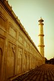 Minaret at Taj Mahal Stock Photography