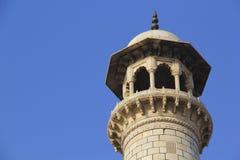 Minaret Taj Mahal. In morning sunlight Stock Photos