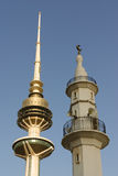 Minaret and Telecommunications Tower Royalty Free Stock Images