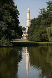 Minaret tower in gardens of chateau Lednice Stock Image