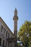 Minaret tower in Kos city Stock Photography