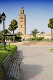 Minaret tower in Marrakech Royalty Free Stock Photo