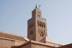 Minaret, tower mosque in morocco Stock Photo