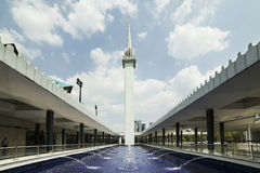 The minaret that towers above the National Mosque , Malaysia Stock Image