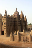 Minaret of a traditional mosk. Made of mud in Mali, West Africa Royalty Free Stock Photo
