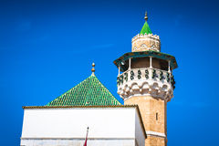 Minaret in Tunis medina Royalty Free Stock Photos