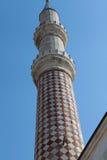 The Minaret of Uc Serefeli Mosque, Edirne. Stock Photography