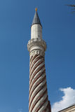 The Minaret of Uc Serefeli Mosque, Edirne. Royalty Free Stock Photography