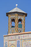 The minaret of Vakil Mosque Royalty Free Stock Photo