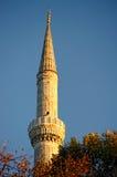 Minaret van Blauwe Moskee, Istanboel, Turkije Stock Afbeeldingen