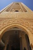 Minaret van de moskee van Hassan II. Royalty-vrije Stock Foto's