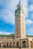 Minaret van Moskee Hasan II in Casablanca - Marokko Royalty-vrije Stock Foto's