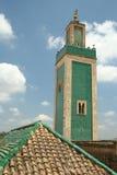 Minaret vert Images libres de droits