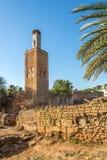 Minaret w antycznym Chellah Sala Colonia w Rabat, Maroko fotografia royalty free