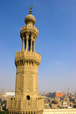 The Minaret of Zuweila. Bab Zuweila is a medieval gate in Cairo, which is still standing in modern times. It was also known as Bawabbat Al-Mitwali during the Royalty Free Stock Photography