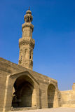 The Minaret of Zuweila. Bab Zuweila is a medieval gate in Cairo, which is still standing in modern times. It was also known as Bawabbat Al-Mitwali during the Royalty Free Stock Image