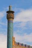 Minarete da mesquita da imã em Isfahan, Irã Imagens de Stock