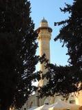 Minarete da mesquita do al-Aqsa, Jerusalém imagem de stock
