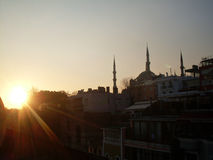 Minaretes da mesquita azul em Istambul Fotografia de Stock