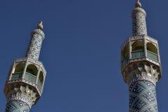 Minaretes em Irã foto de stock