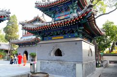 Minareti della pagoda e cortile della moschea Pechino Cina di Islam della via della mucca Immagine Stock Libera da Diritti