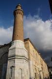 Minareto del mattone di Ulu Cami Immagini Stock Libere da Diritti