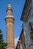 Minareto del mattone di Ulu Cami Fotografia Stock Libera da Diritti
