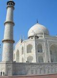 Minareto del mausoleo di Taj Mahal Fotografia Stock Libera da Diritti