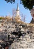 Minareto della moschea a Costantinopoli, Turchia Immagine Stock Libera da Diritti