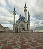 Minareto della moschea di Qolsharif a Kazan La Russia Fotografie Stock Libere da Diritti