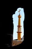 Minareto della moschea nell'Iran Fotografie Stock