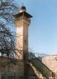 Minareto di Al Aqsa Mosque immagini stock libere da diritti