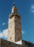 Minareto di Omar Mosque fotografia stock