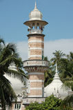 Minareto di vecchia moschea fotografia stock