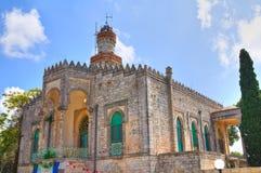 Minareto of Francesco. Fasano. Puglia. Italy. Perspective of the Minareto of Francesco. Fasano. Puglia. Italy royalty free stock image