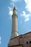 Minareto sul Hagia Sophia Fotografia Stock